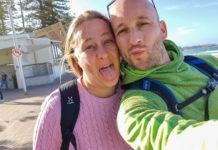 Vi två på Manly Beach