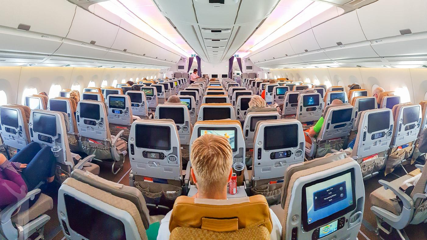 Singapore Airlines A350 - ekonomiklass