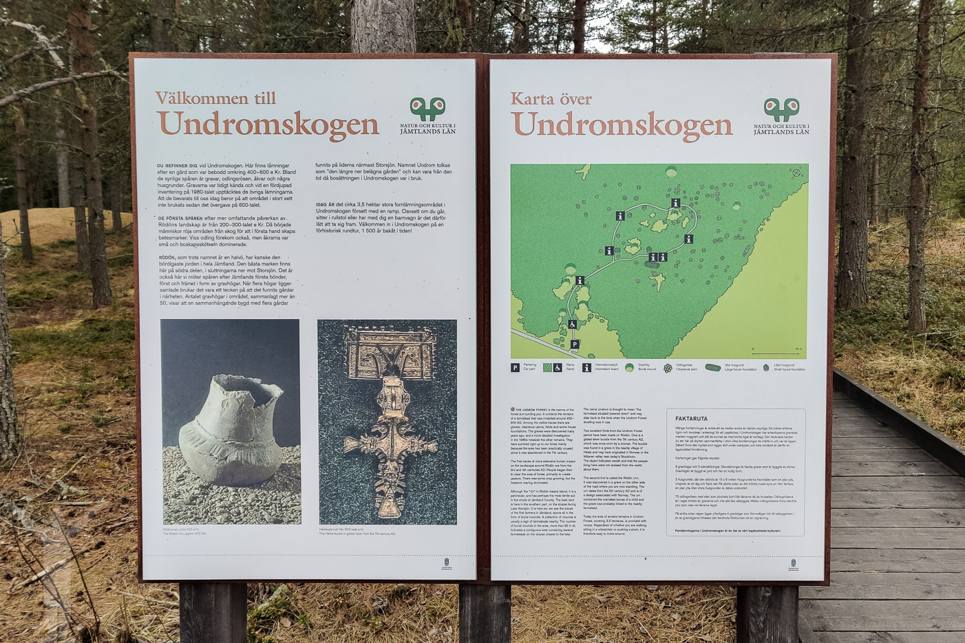 Informationsskylt om Undromskogen