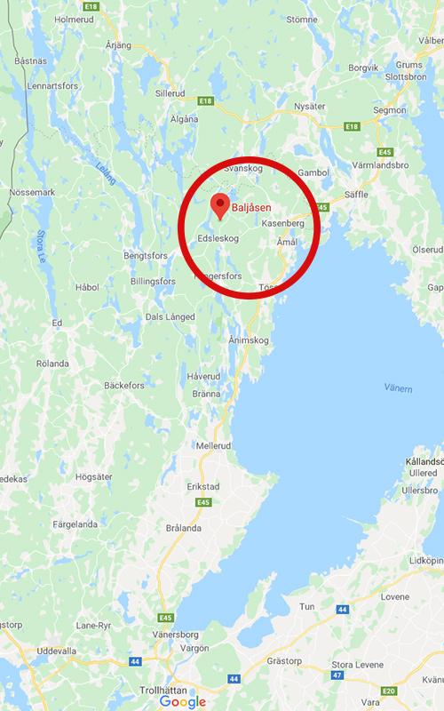 Baljåsen ligger i Dalsland