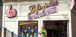 Butik för vänsterhänta i San Francisco