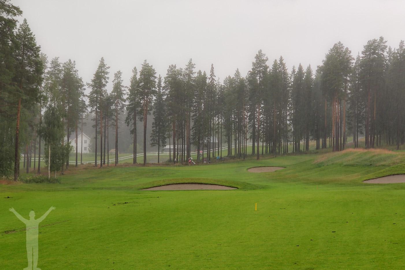 Regn på Sandnäset Golf