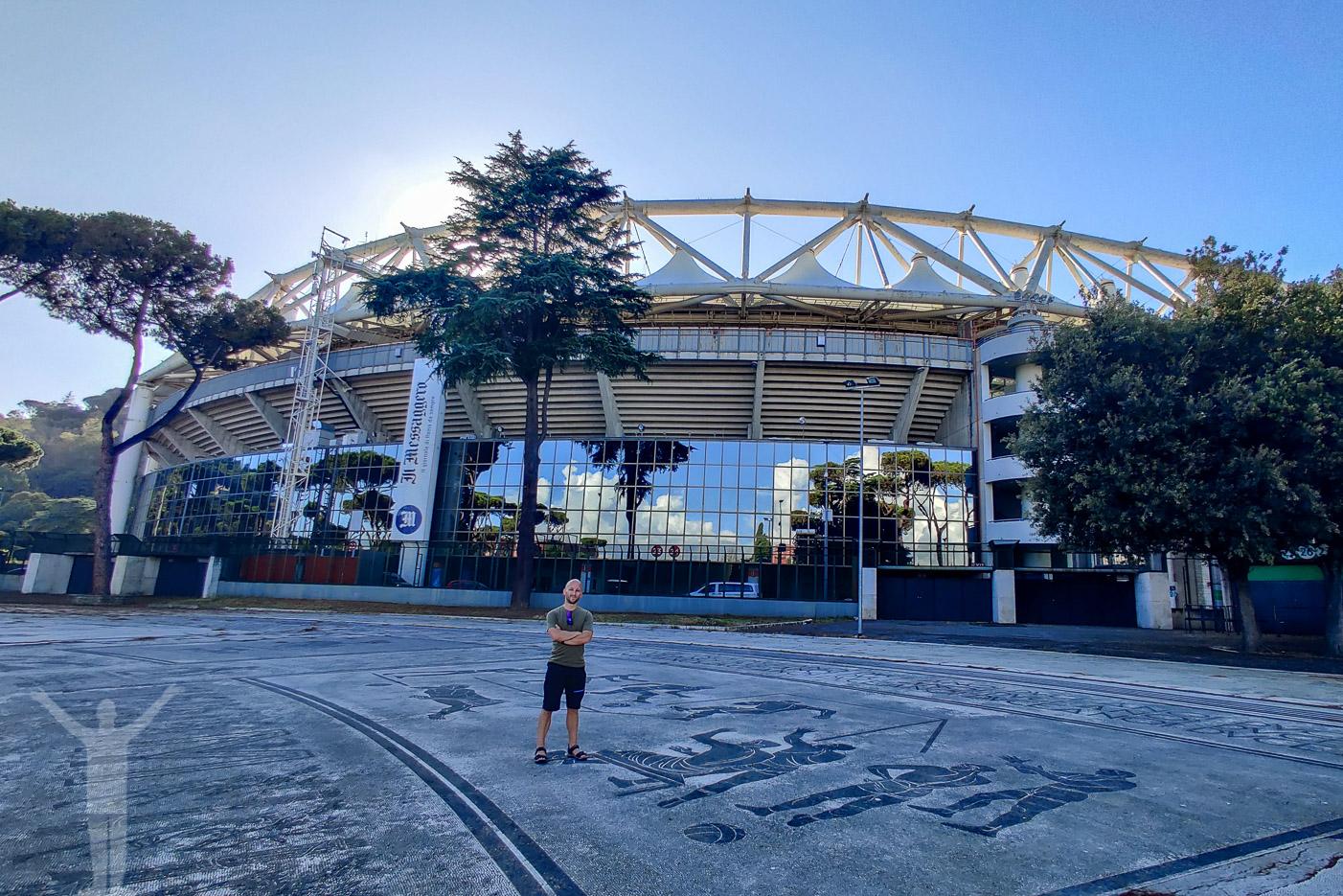 Jag själv framför Olimpico