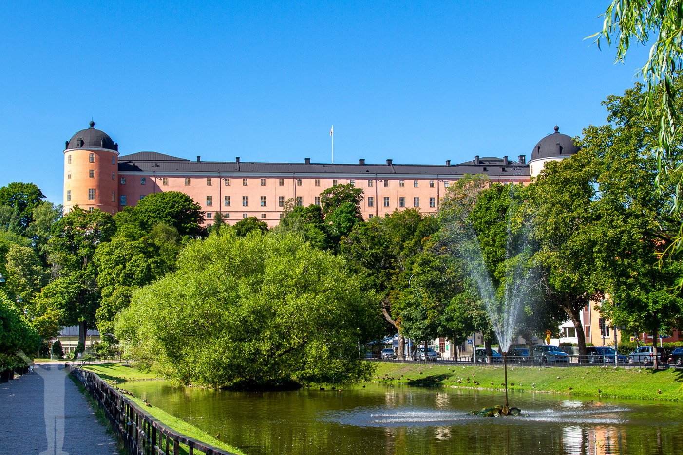 Uppsala Slott sett från stan