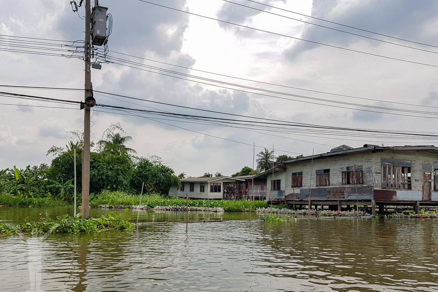 Flodbåt på Chaow Praya River
