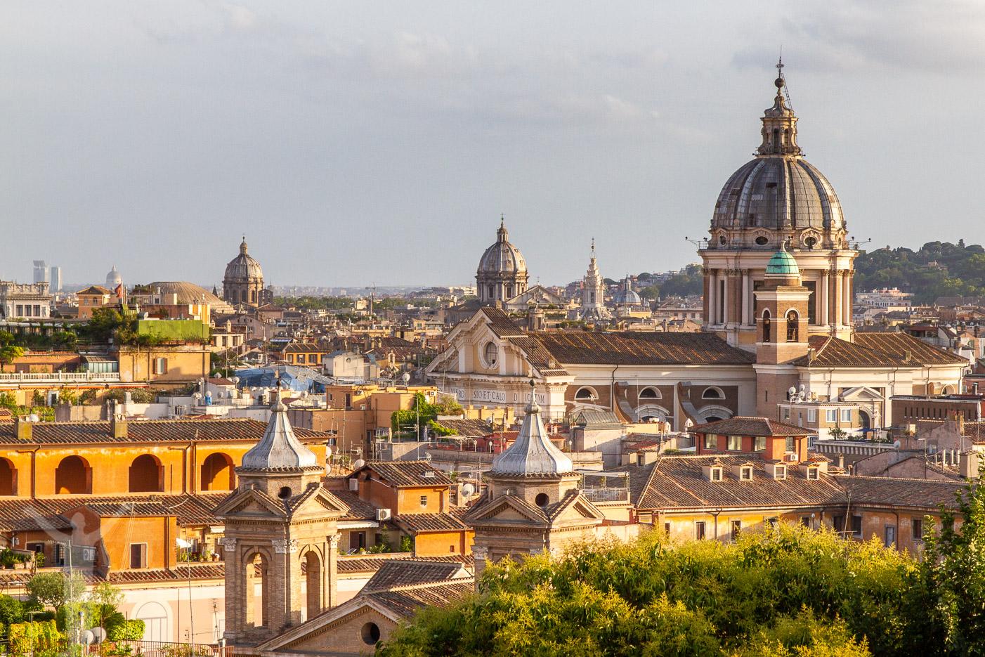 Casina Valadier - en av flera  utsiktsplatser i Rom
