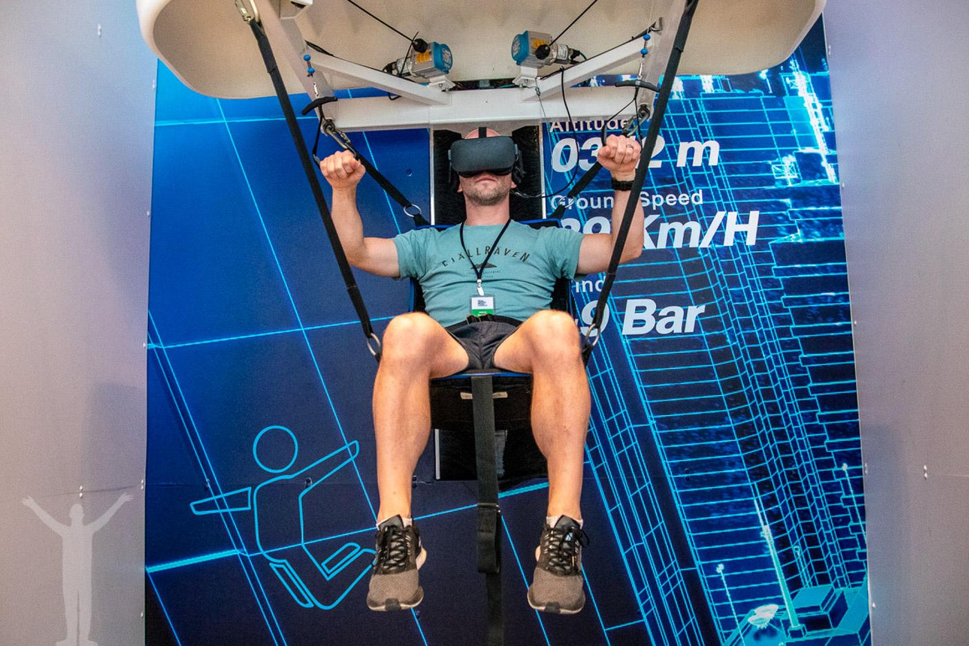 VR-upplevelse i King Power Mahanakhon