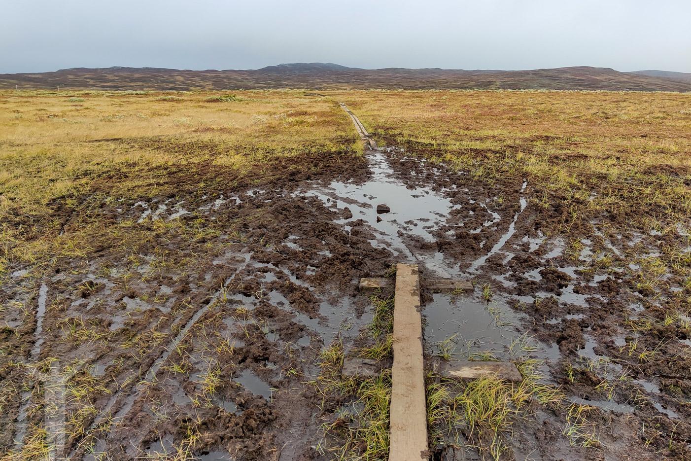 Det kan vara lerigt att springa Jämtlandstriangeln