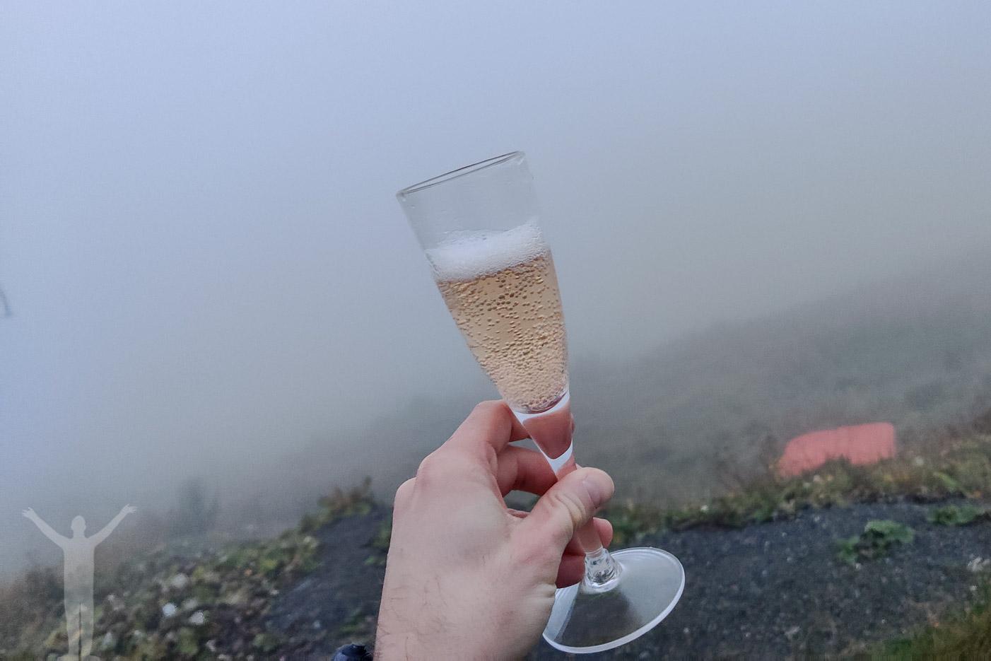 Alkoholfritt bubbel att skåla i på toppen