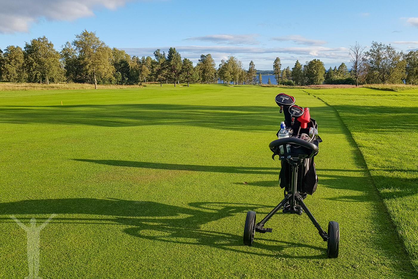 Hål 3 på Östersund Frösö Golfklubb