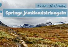 Springa Jämtlandstriangeln på två dagar