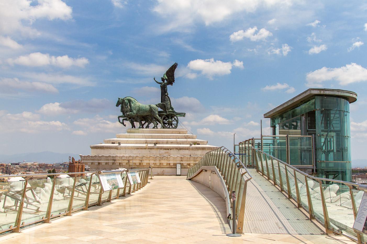Taket av Viktor Emanuel-monumentet