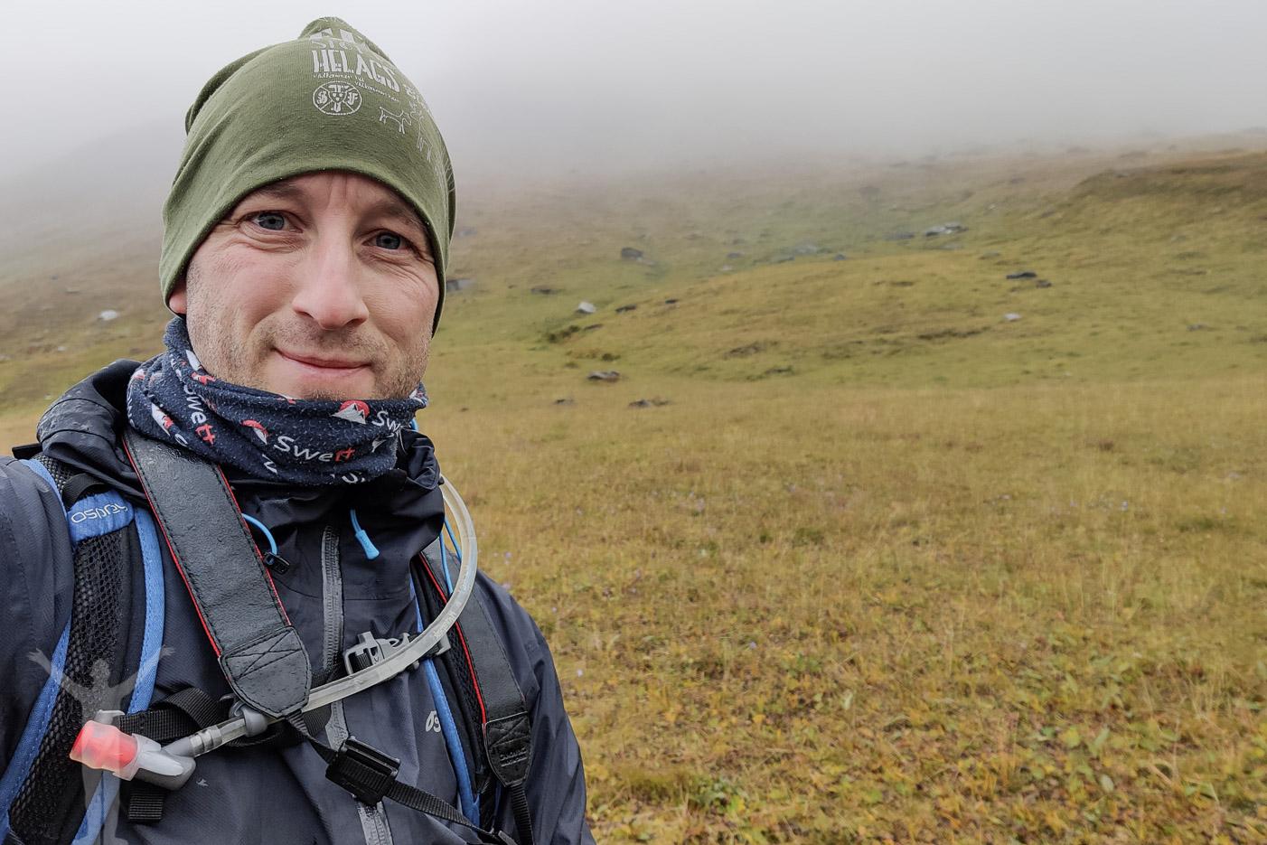 Dryden på vandring mot Trollsjön