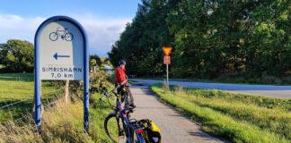 På elcykel längs Sydostleden