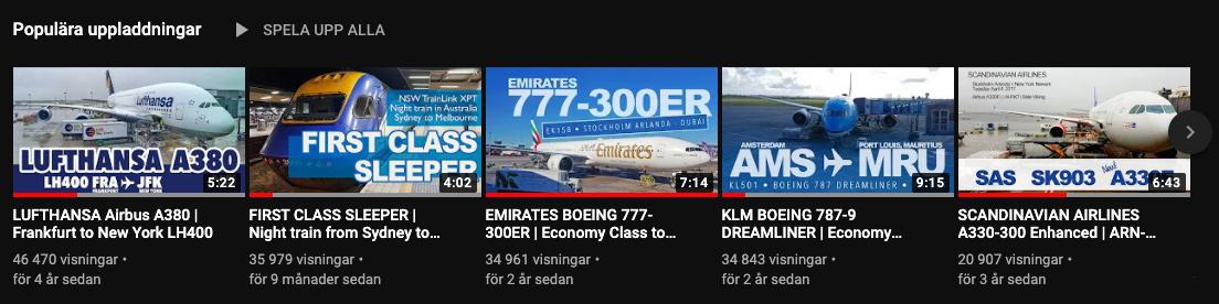 FlyingDryden på Youtube