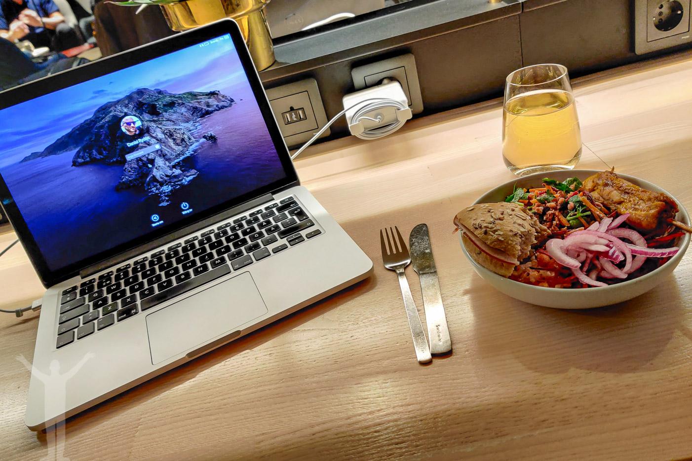 Mat i SAS Gold Lounge på Arlanda, innan pandemin