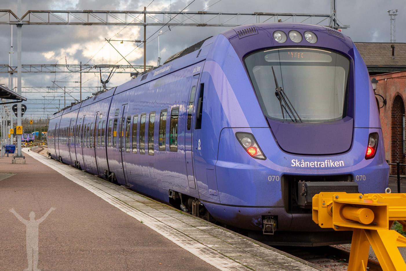 Tåg i Ystad