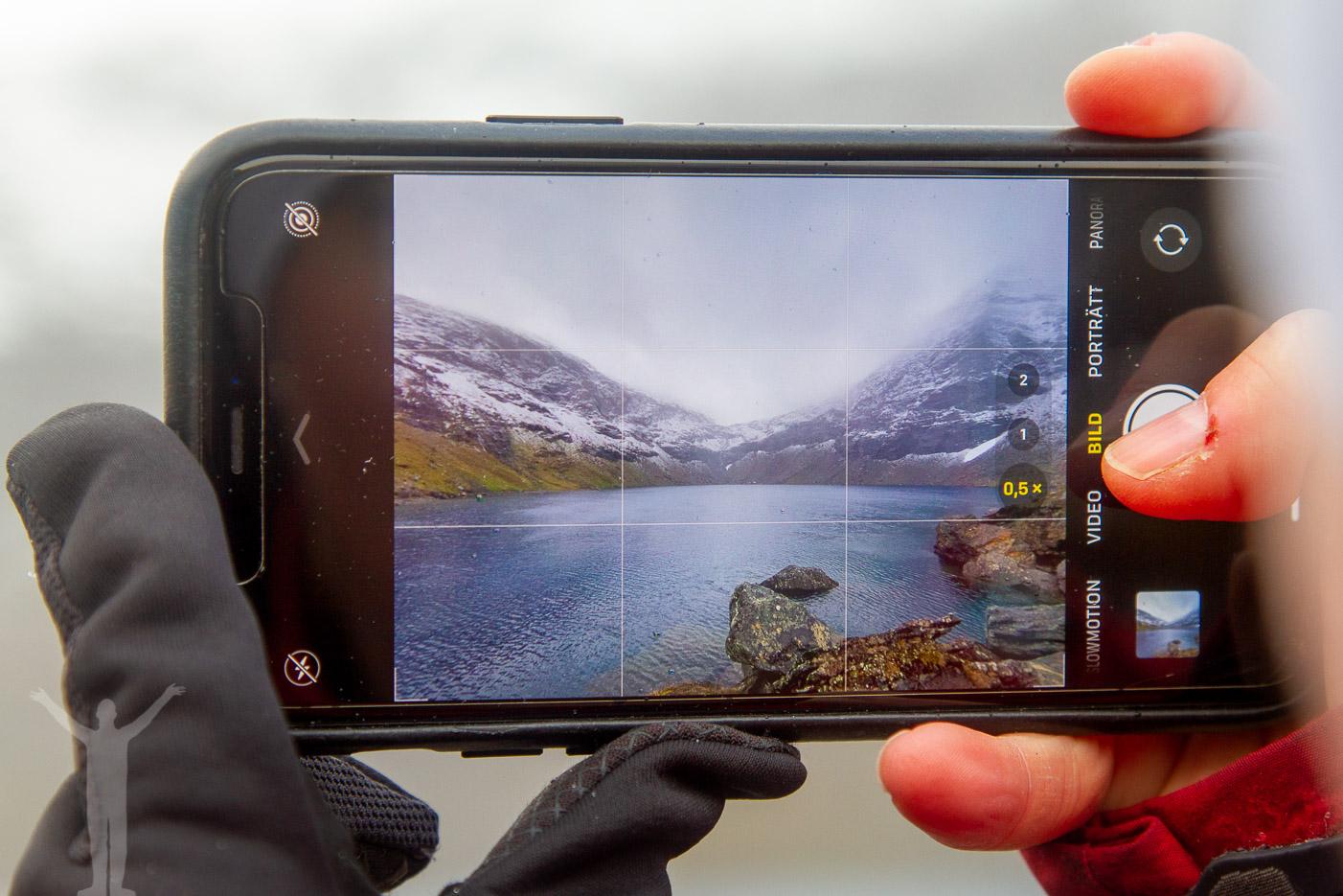 Trollsjön genom en iPhone
