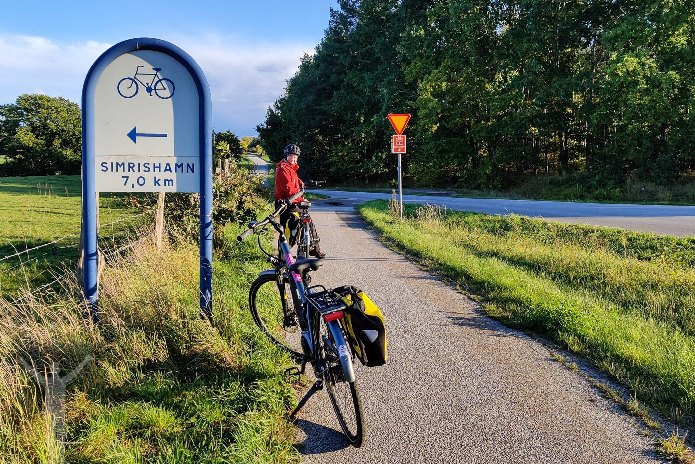Cykling mot Simrishamn