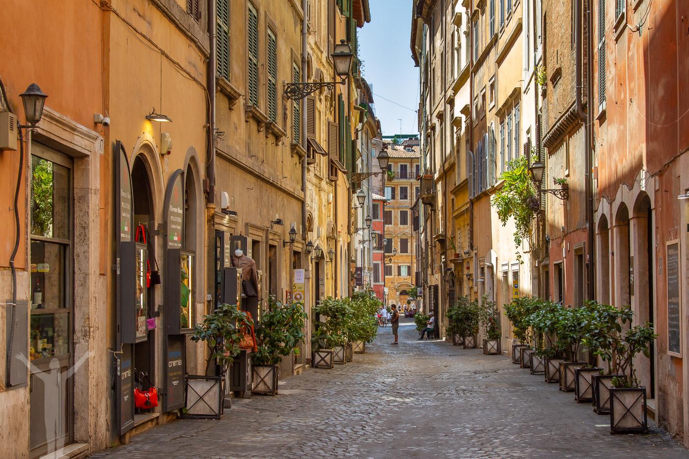 Mysig gränd i Rom