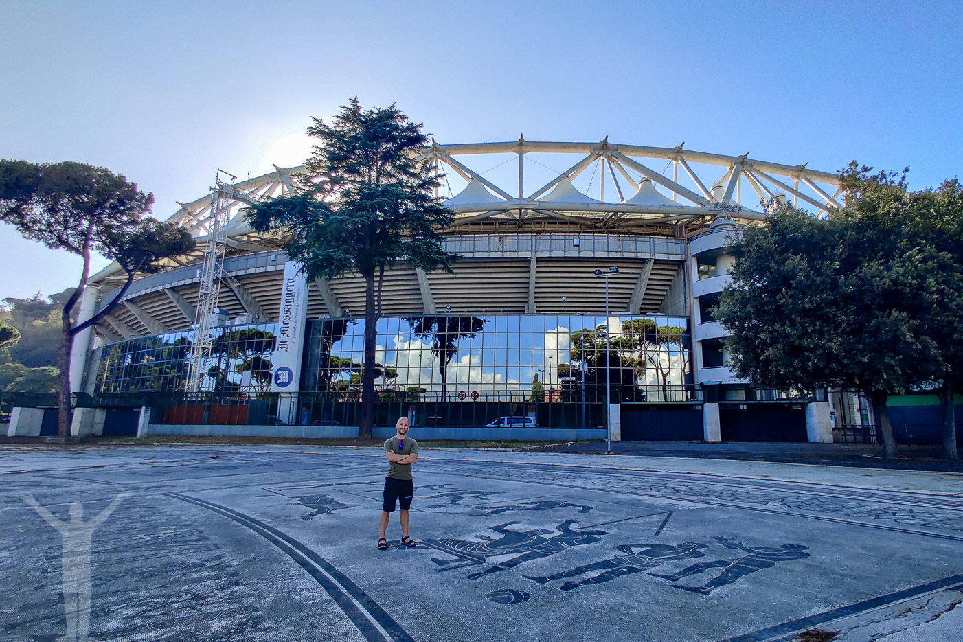 Stadio Olimpico ville jag göra i Rom