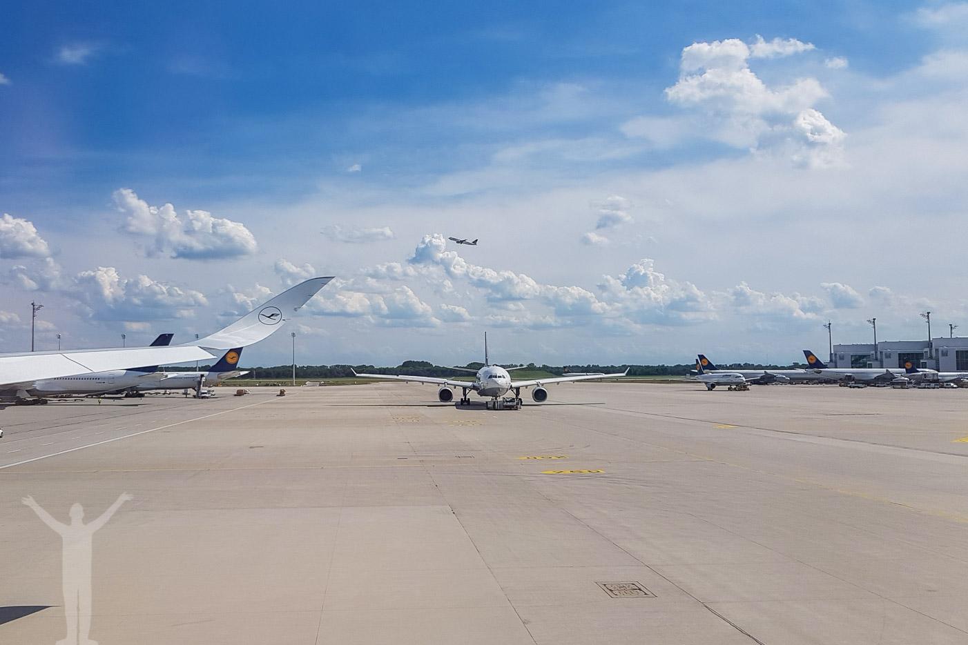 Flygplan på flygplatsen i München
