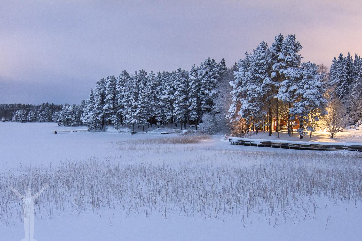 Snöklädda landskap i Jämtland
