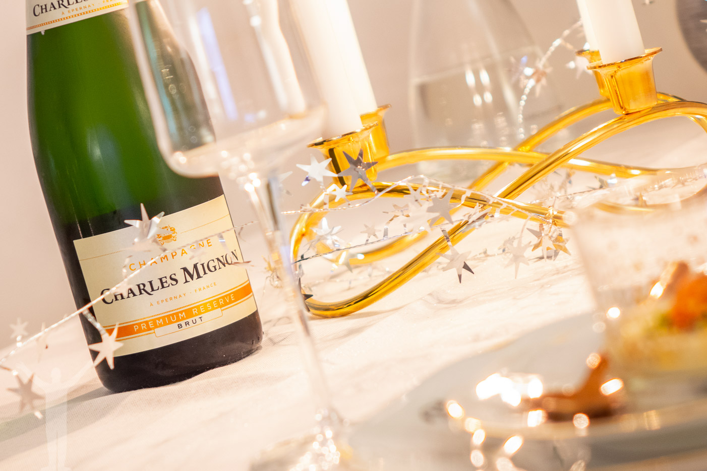 Nyårsmiddag - champagne