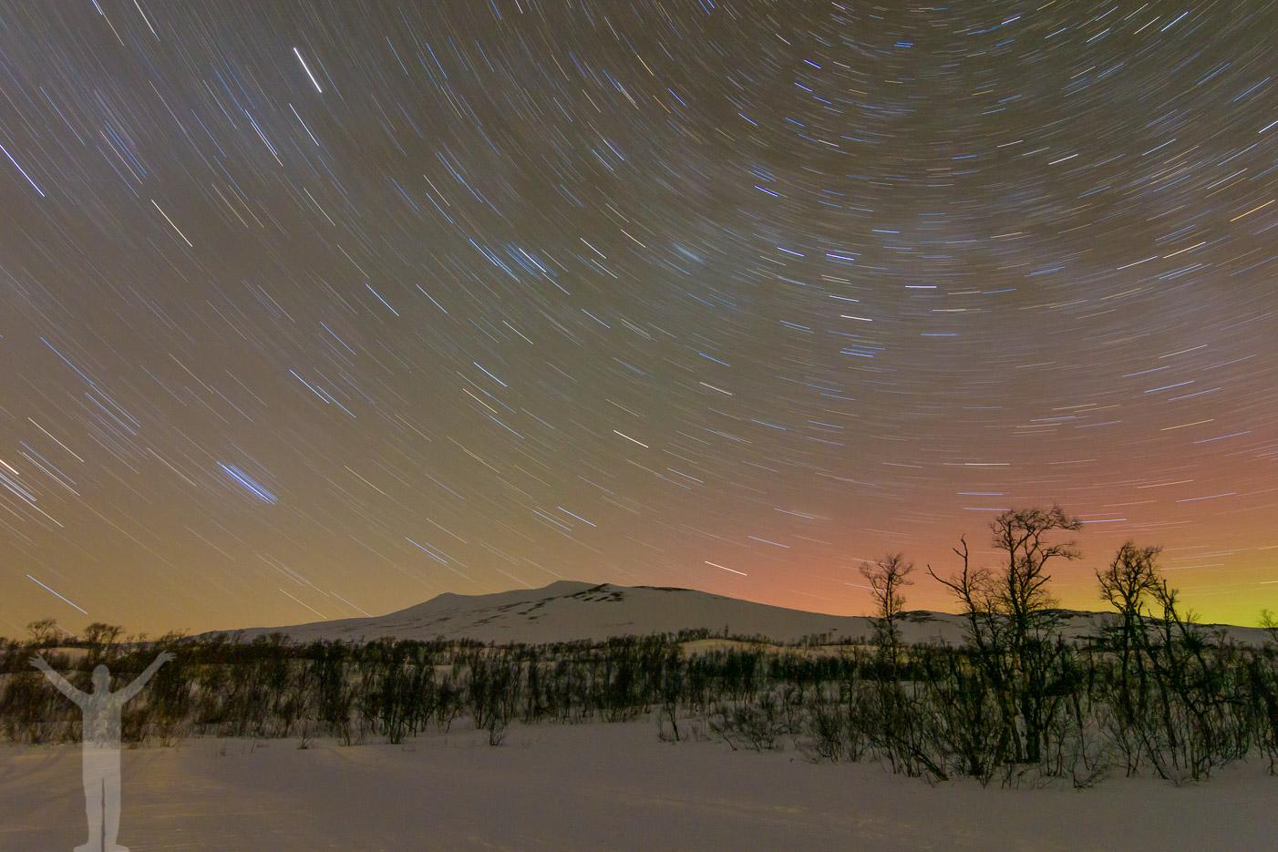Stjärnhimmel över Jämtlandsfjällen