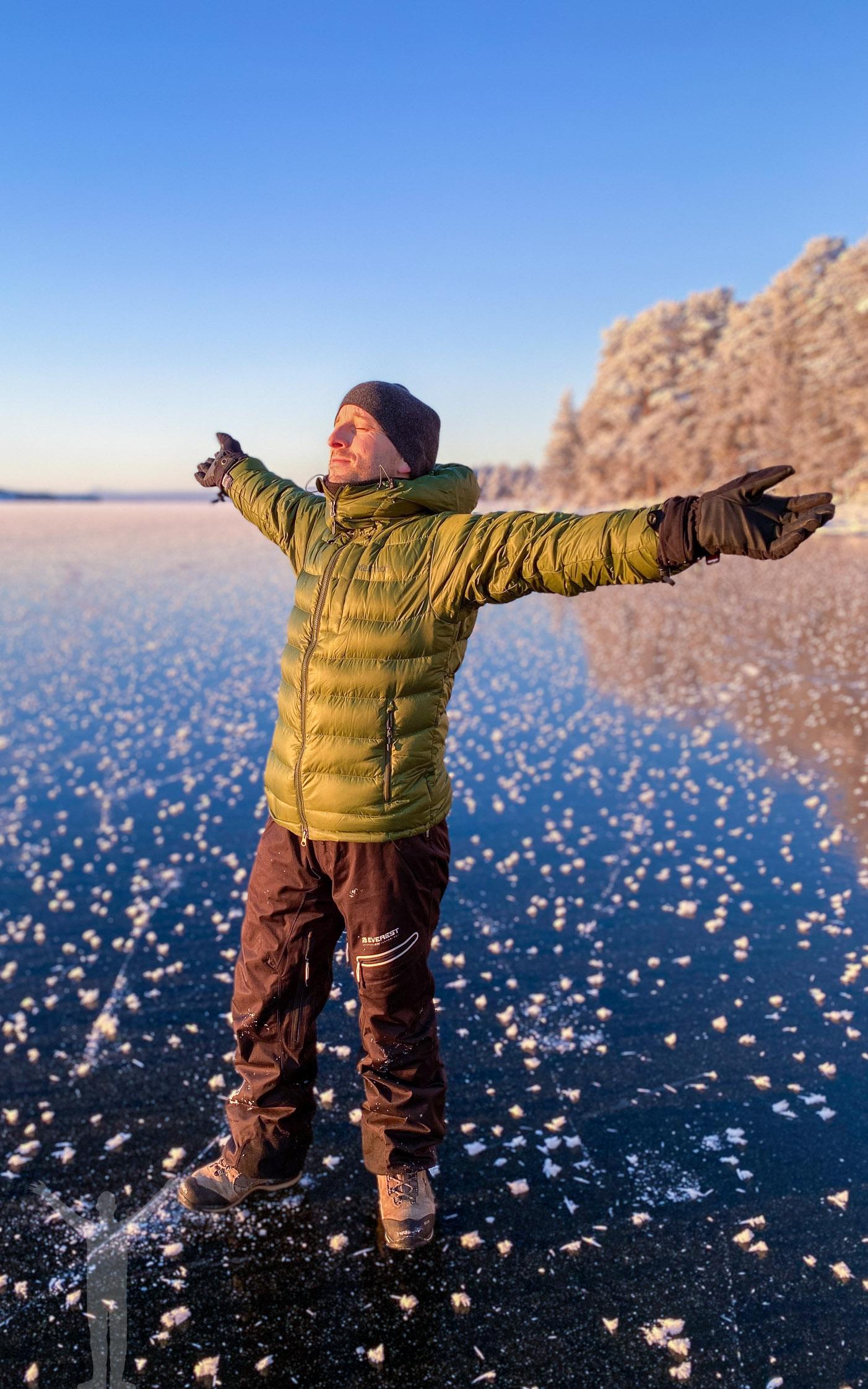 Dryden på Storsjöns is en kall vinterdag