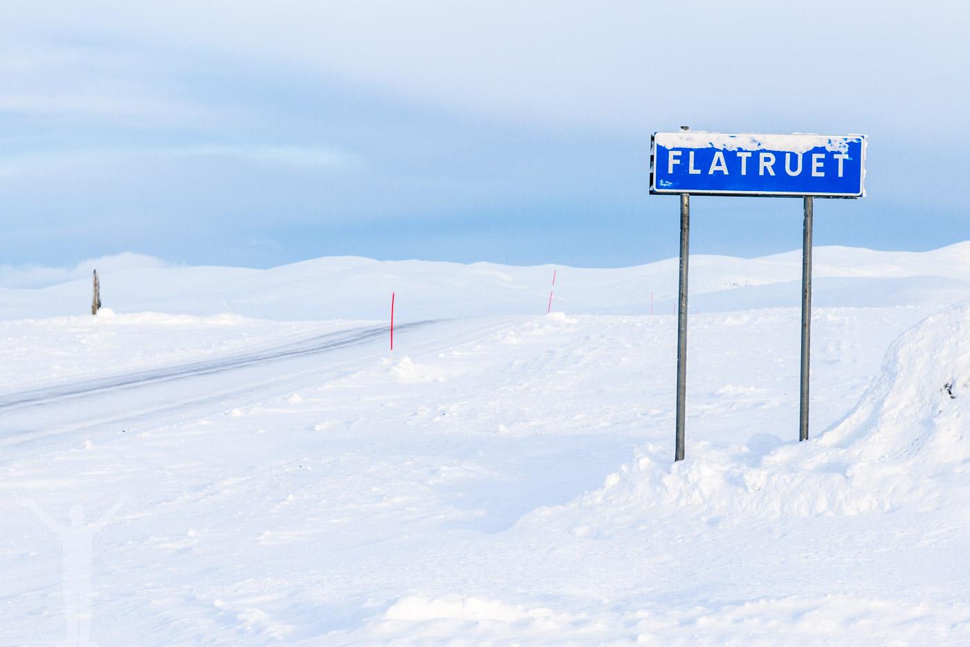 Flatruet plogas på vintern