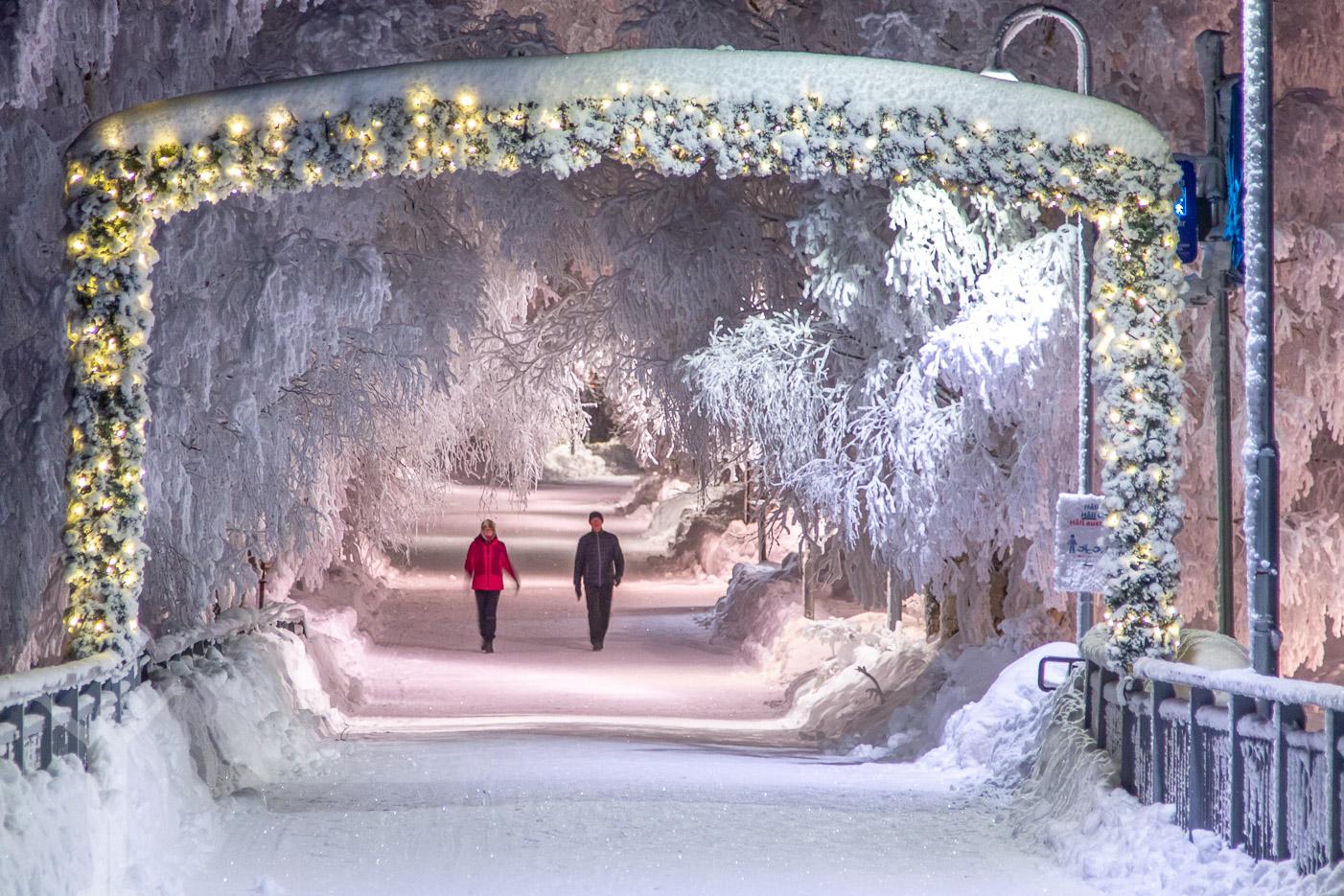 Frösöbron, Badhusparken och -25°C