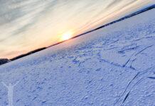 Solnedgång över Storsjön och Andersön