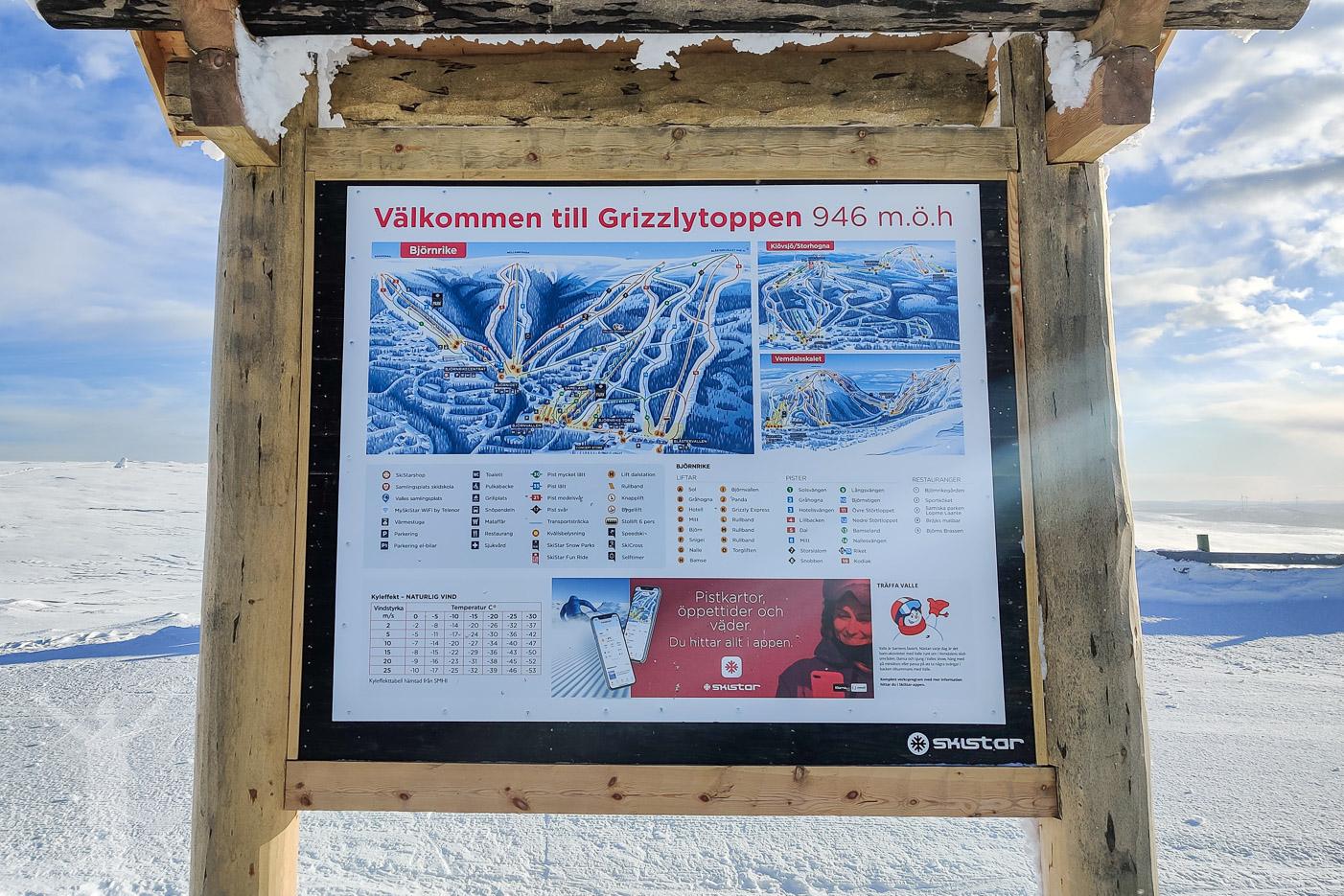 Pistkarta - bra om du ska åka skidor i Björnrike