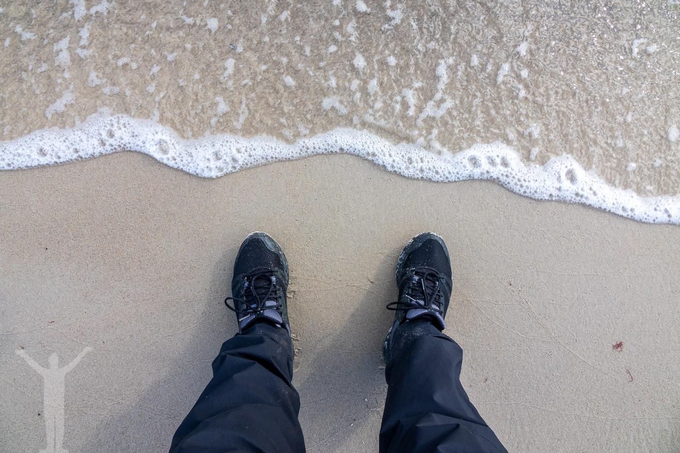 Sandhammaren framför fötterna
