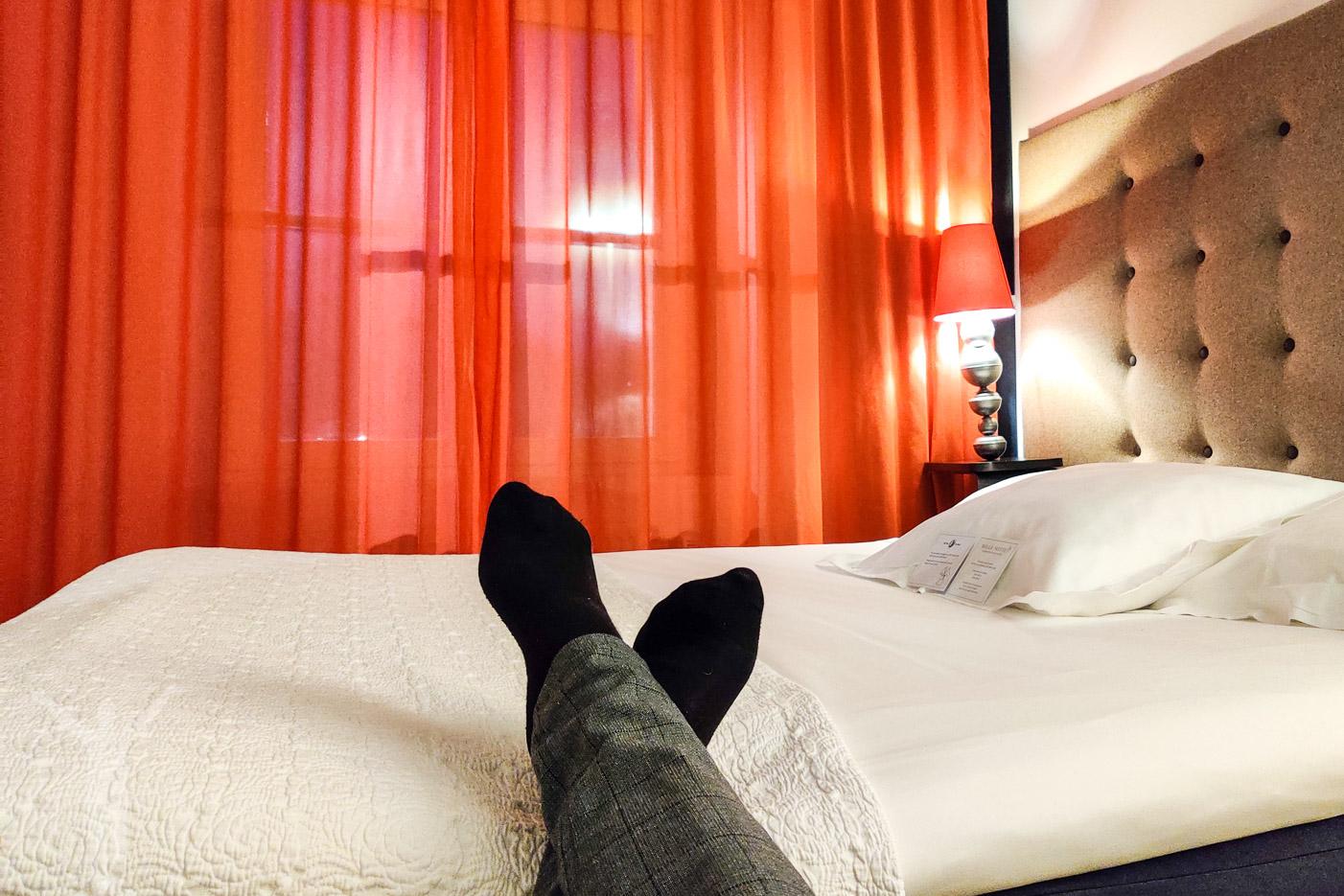 En skön hotellsäng, tack!