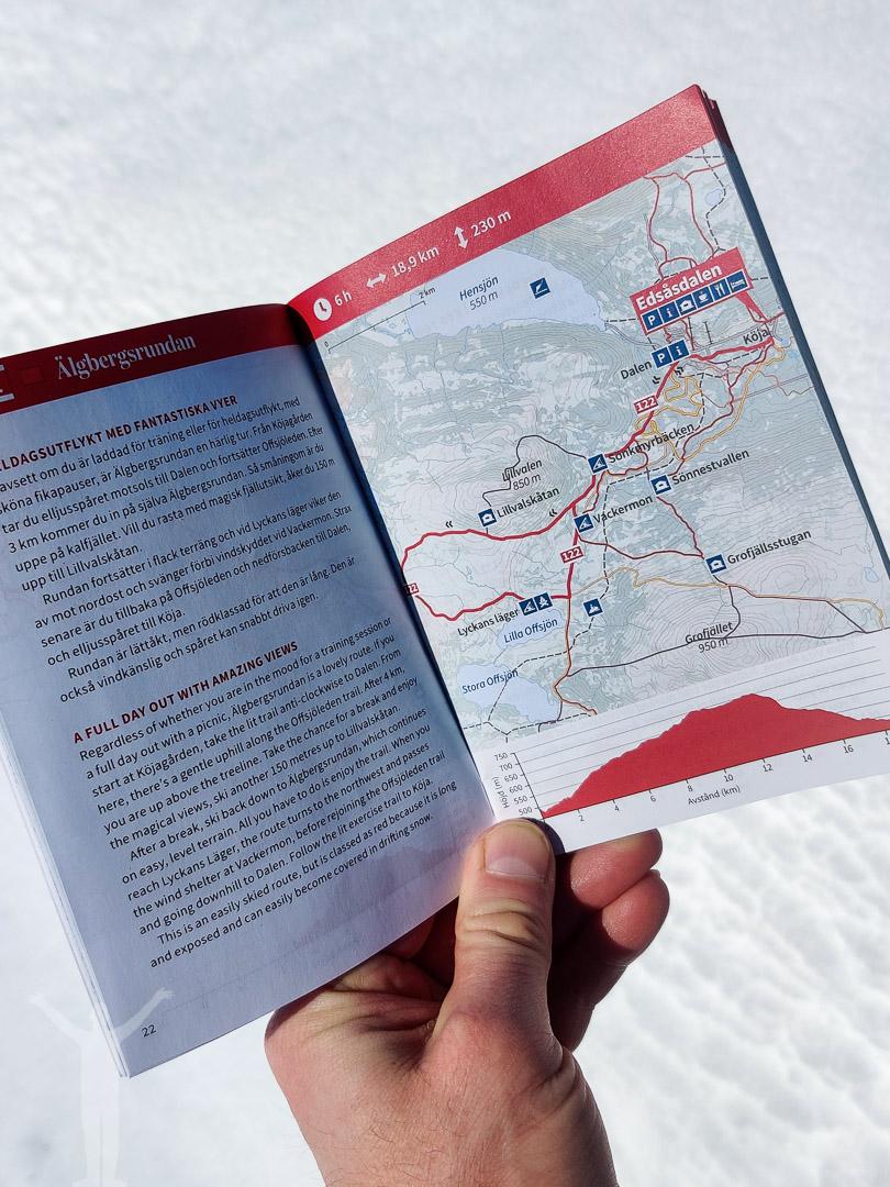 Karta över Älgbergsrundan och Lyckans läger