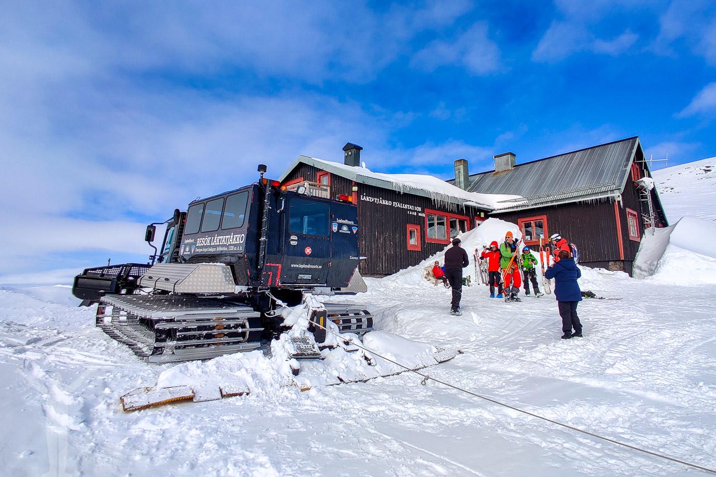 Bandvagn till Låktatjåkko från Björkliden