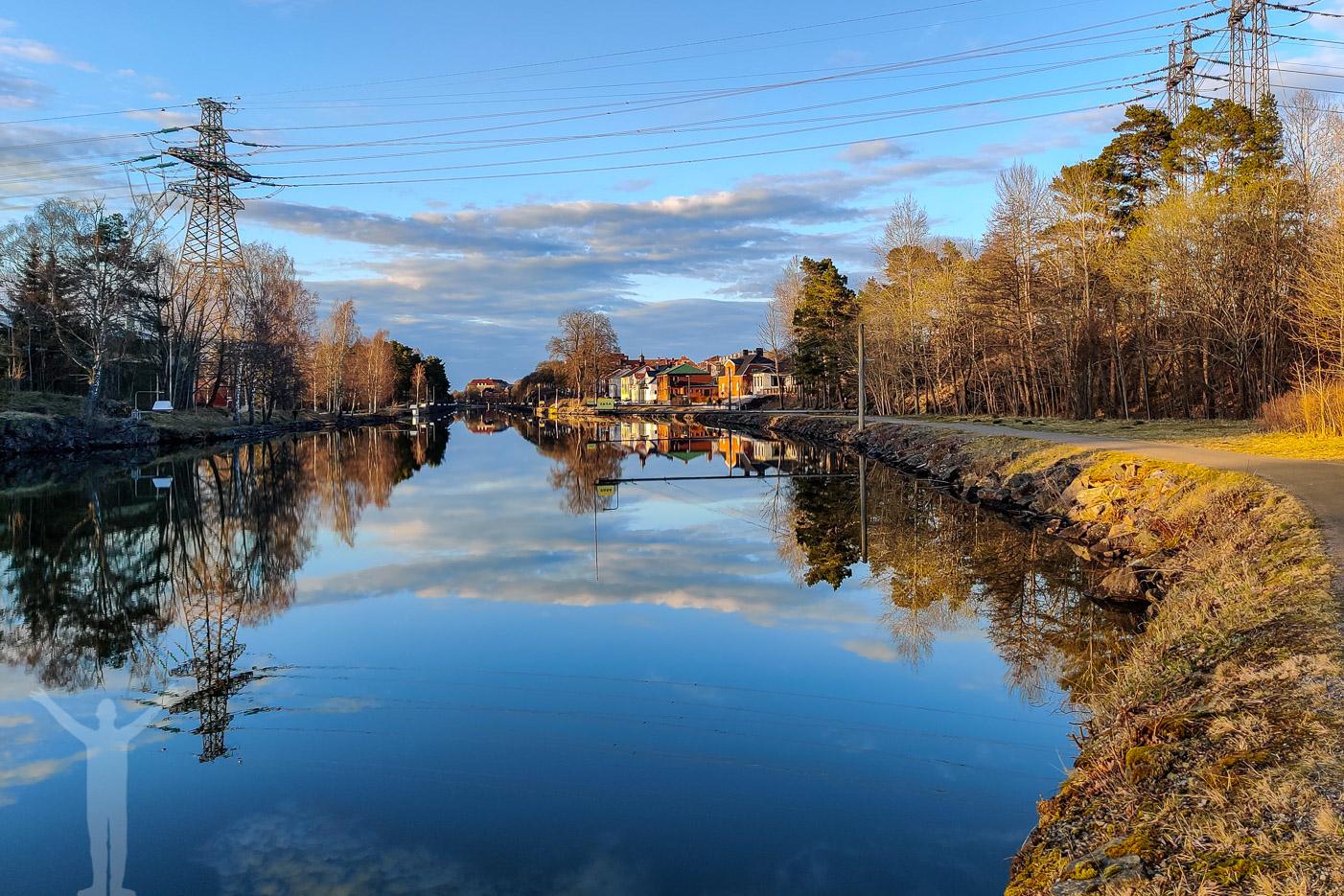 Kanalen genom Trollhättan