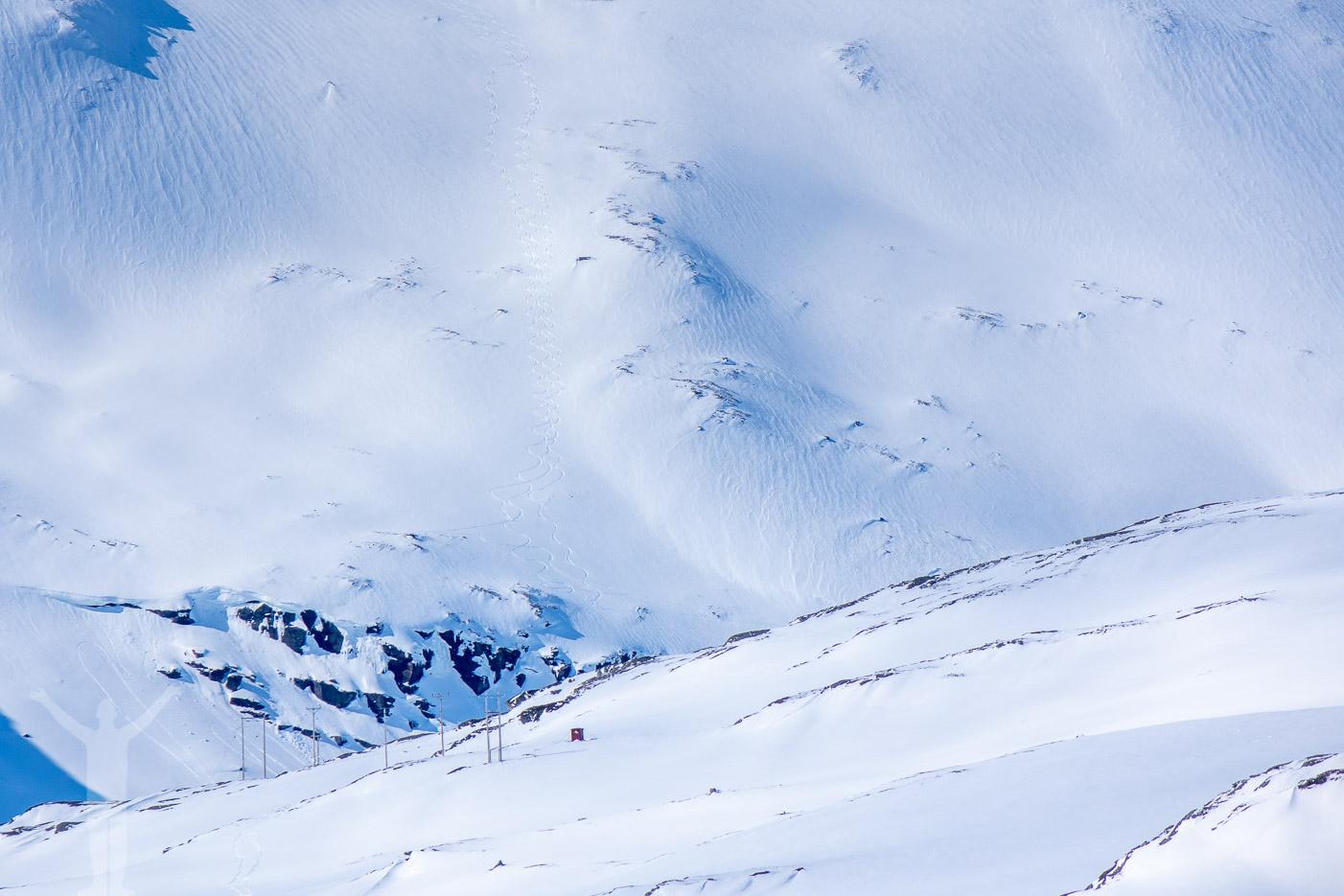 Utsikt från Låktatjåkko Fjällstation