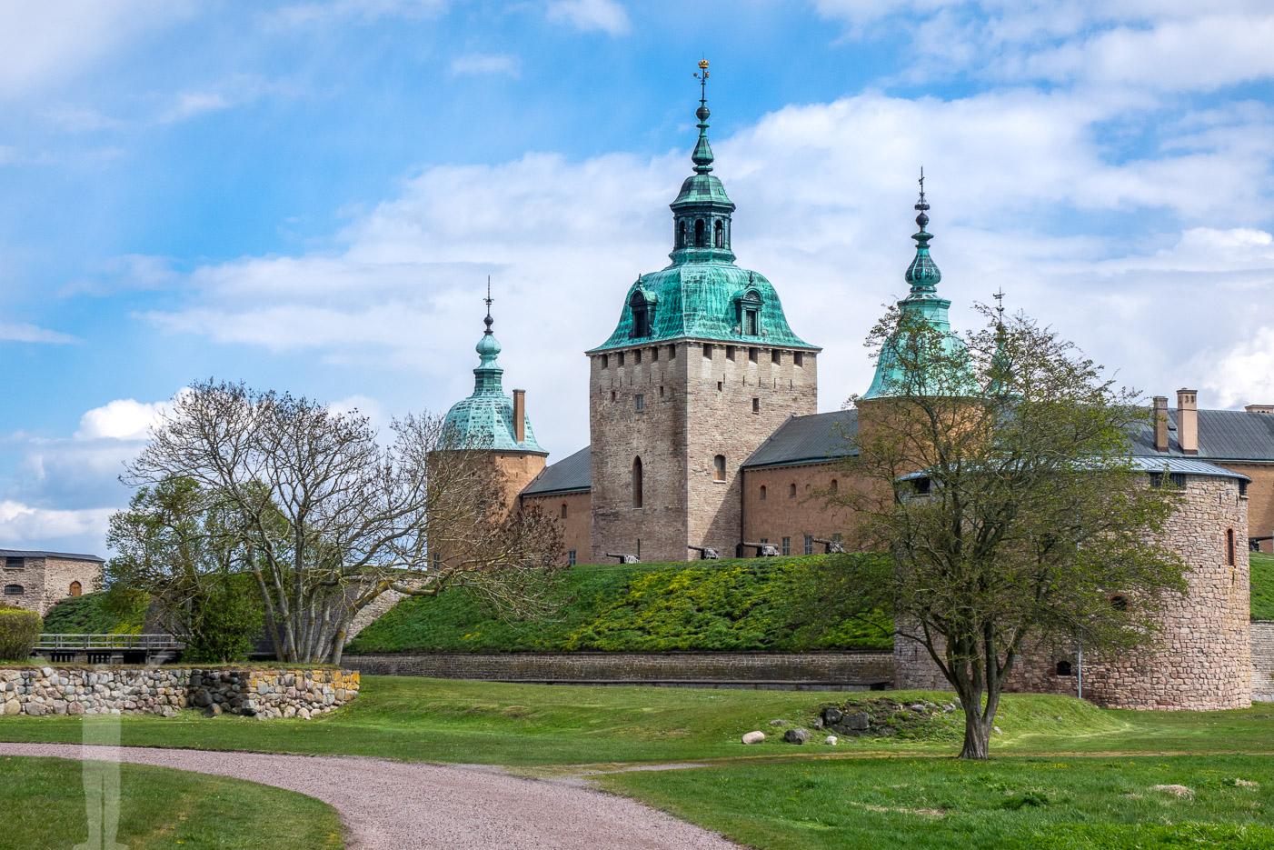 Kalmar slott - utsikt från Sveriges längsta bänk