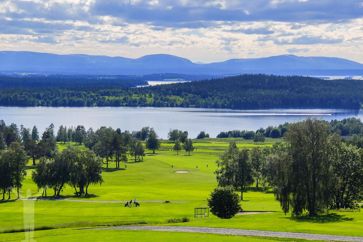 Utsikt över Östersund Frösö Golfklubb