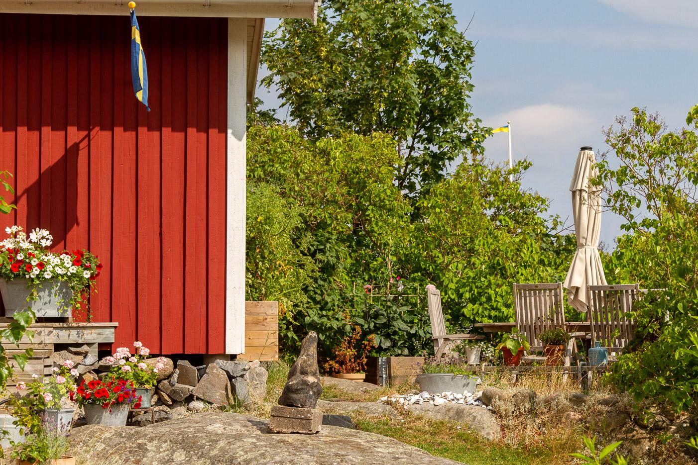 Härlig uteplats på Brännö