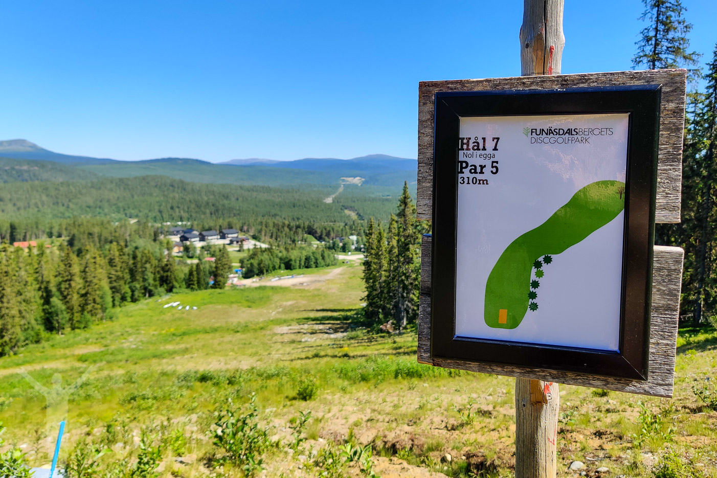 Hål 7, frisbeegolf i Funäsdalen