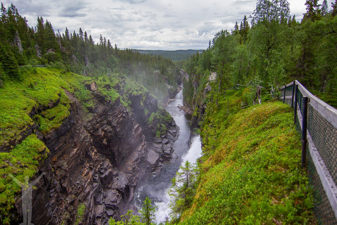 Hällingsåfallet i Jämtland