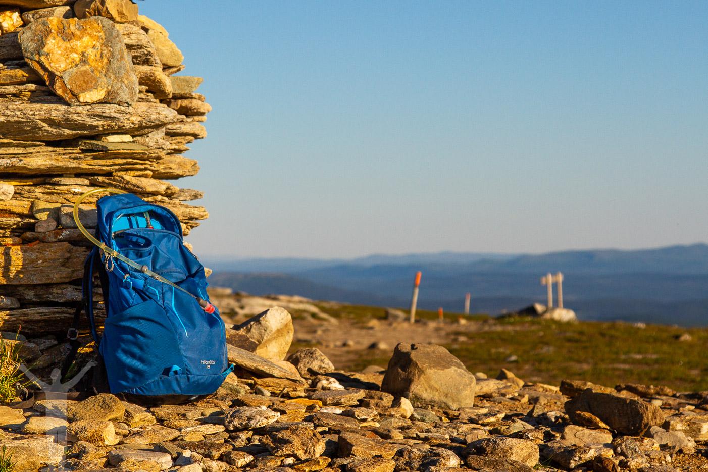 Toppröset och Osprey-ryggsäck