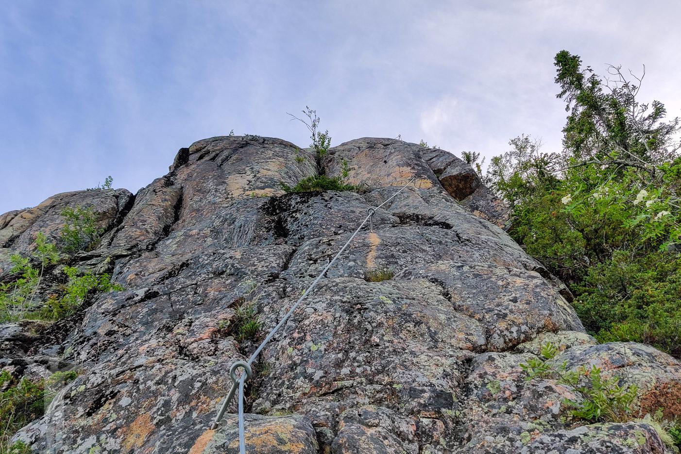 Svarta leden på Skuleberget - via Ferrata