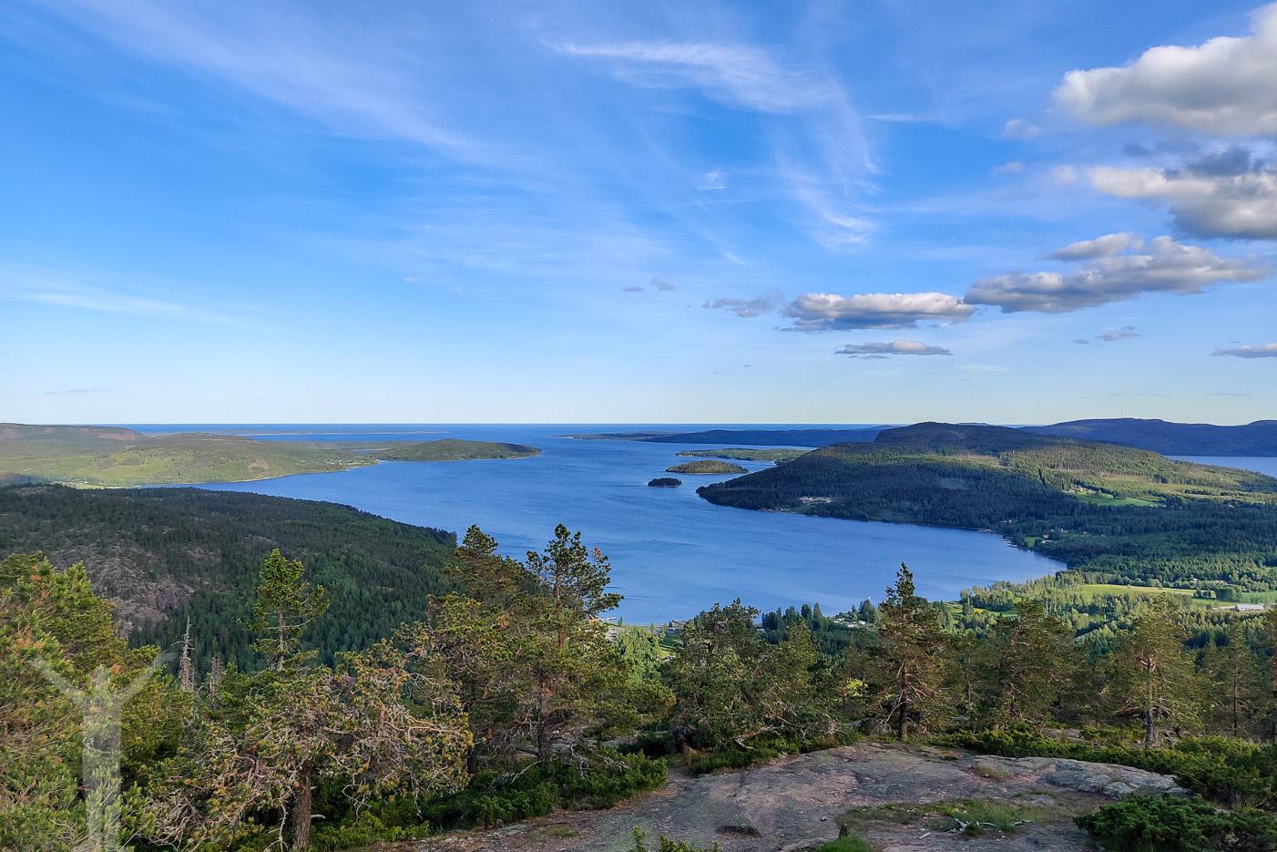 Utsikt från toppen av Skuleberget