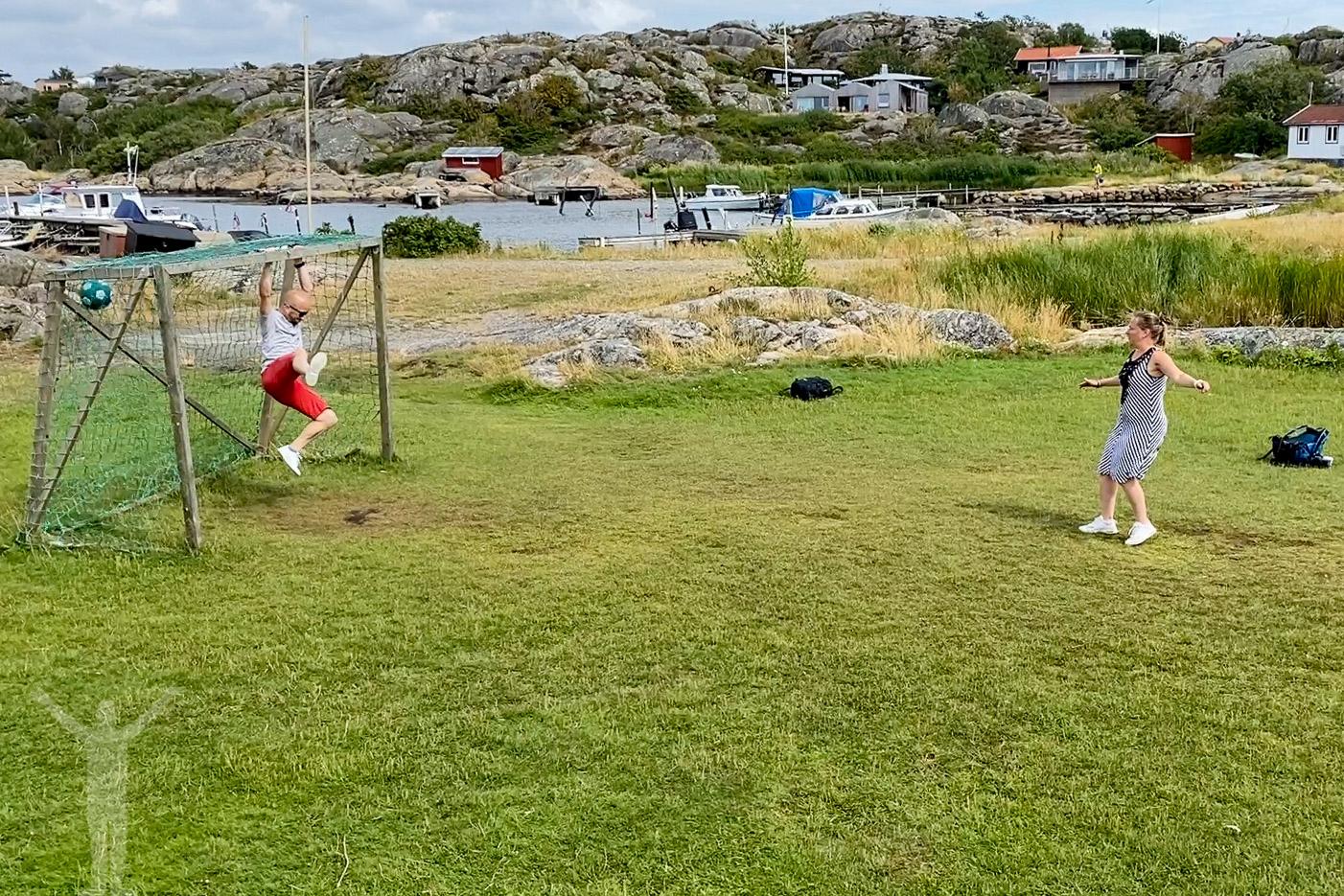 Fotbollsmatch på Brännö