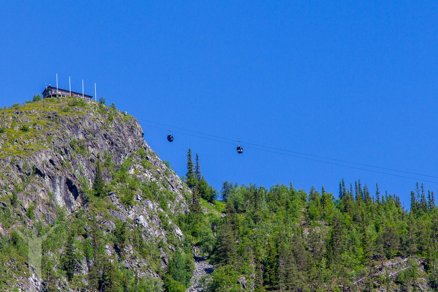 Linbanan upp på Funäsdalsberget